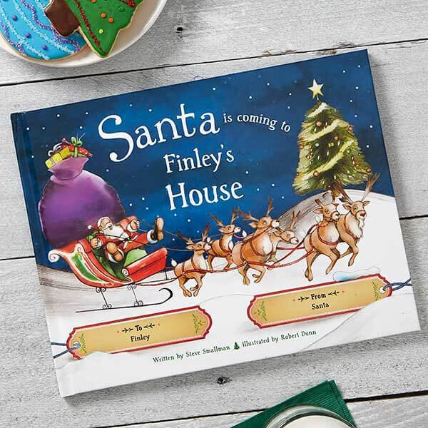 Santa is coming to my house Personalized Kids Book