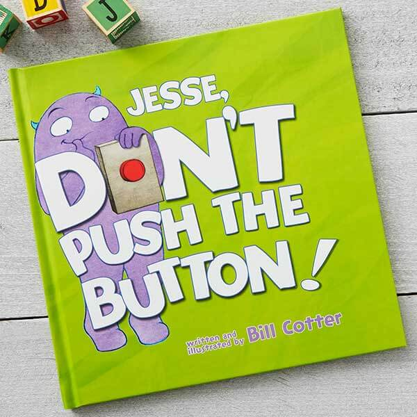 Don't Push the Button Personalized Kids Book