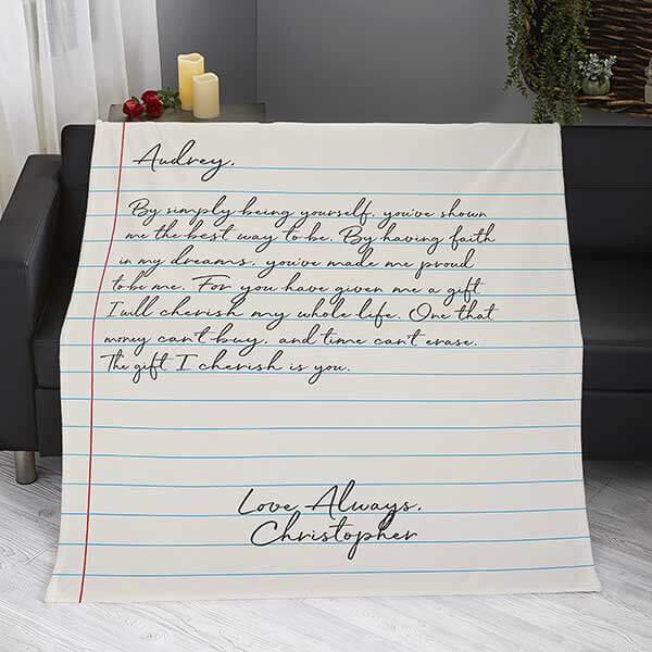 First Anniversary Gift - Love Letter Blanket
