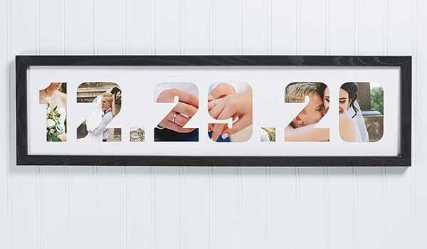 Paper Anniversary Wedding Date Photo Collage