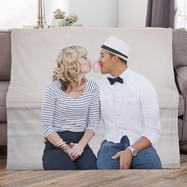 Custom Photo Blanket Engagement Gift