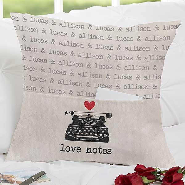 Love Letter Pocket Pillow