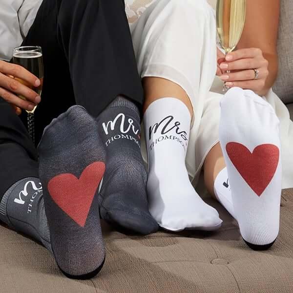 Mr & Mrs Custom Wedding Socks