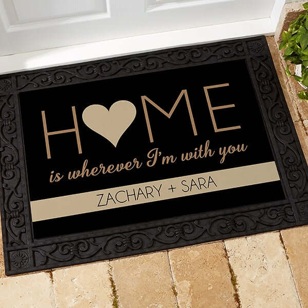 Personalized Doormat Engagement Gift
