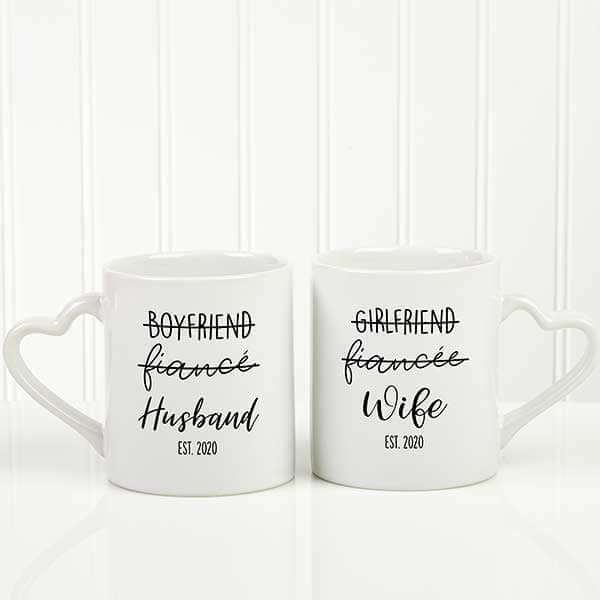 Relationship Status Couples Mug Set