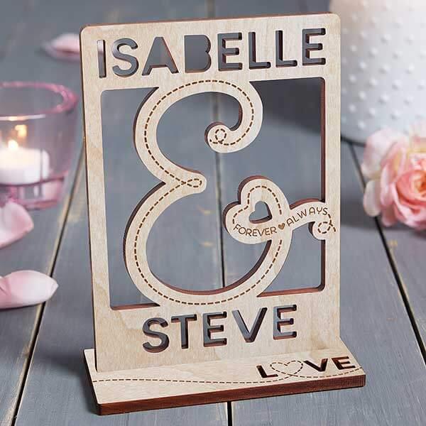 Romantic Wood Cutout Keepsake Gift