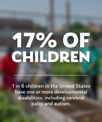 17% of kids have one or more developmental disabilities