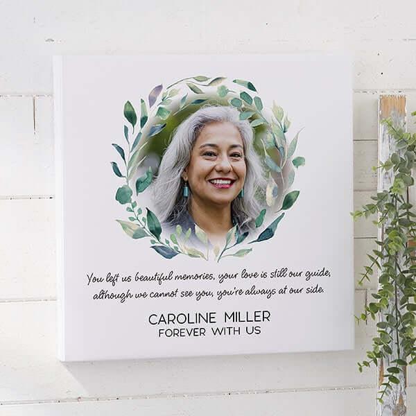 Serene Memorial Wedding Photo Canvas Print