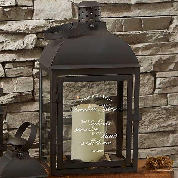 Wedding Memorial Metal Lantern Candle Holder