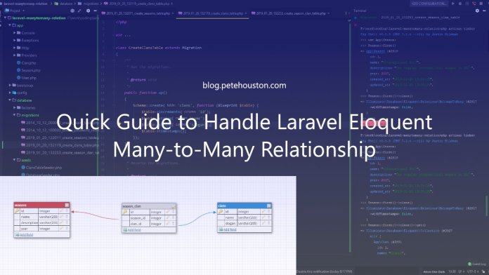 Quick Guide to handle Laravel Eloquent Many-to-Many relationship