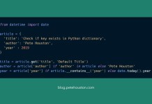 Check if key exists in Python dictionary