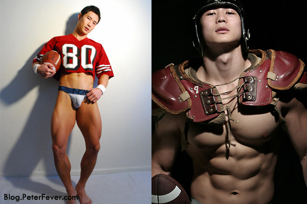 "From Photo Sets ""Football Tryouts"" and ""Vintage Football"""