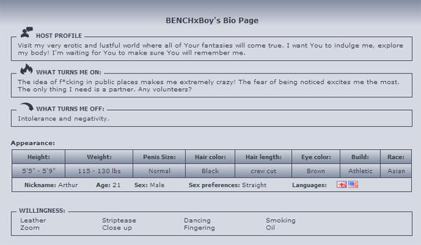 BENCHxBoy-bio