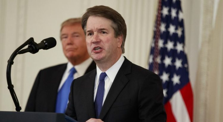 Brett Kavanaugh speaking at a podium