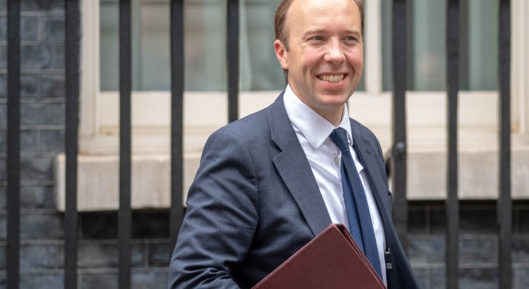 health secretary matt hancock leaves 10 downing street