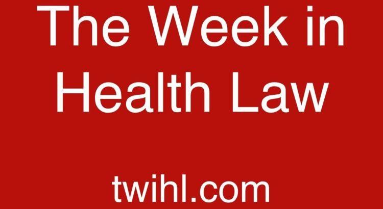 The Week in Health Law podcast logo twihl.com