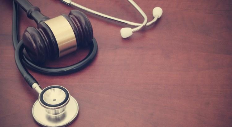 Stethoscope wound around a gavel