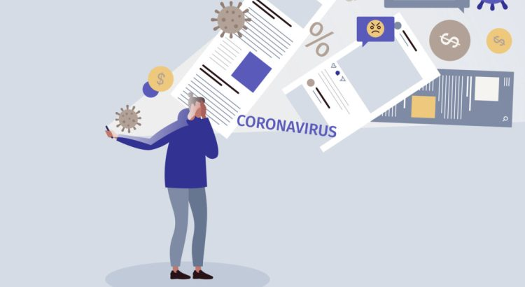 COVID infodemic concept illustration.