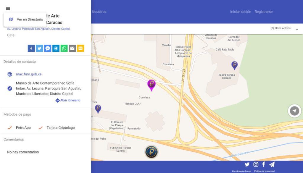 petromap directorio enlace mapa página