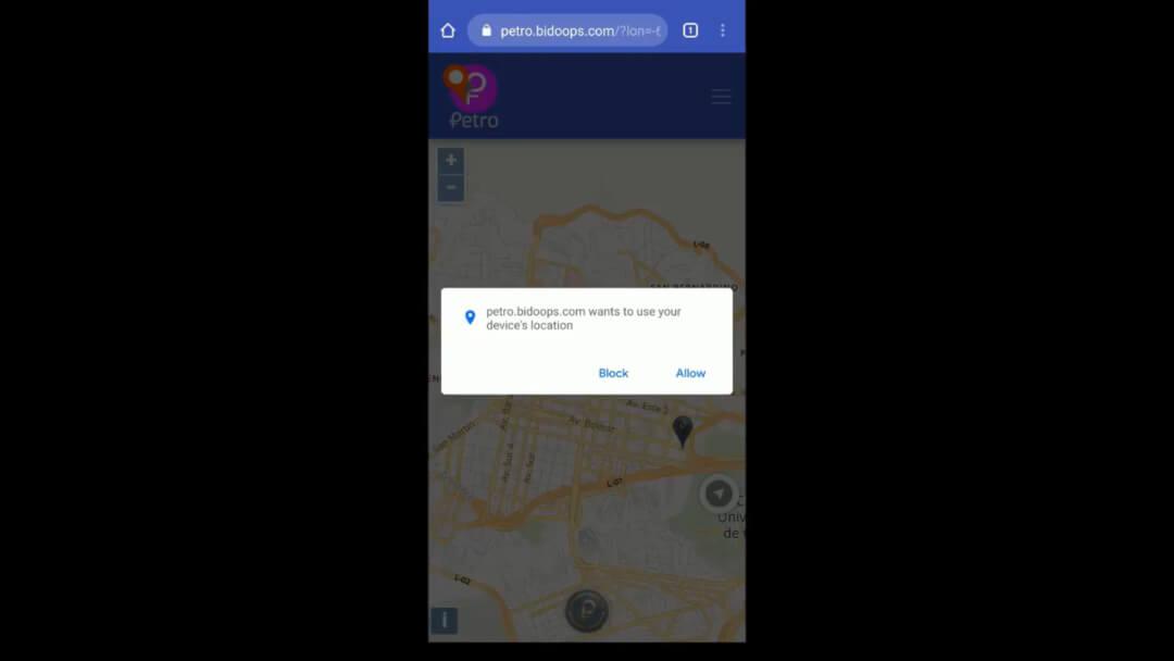 PetroMap móvil guía