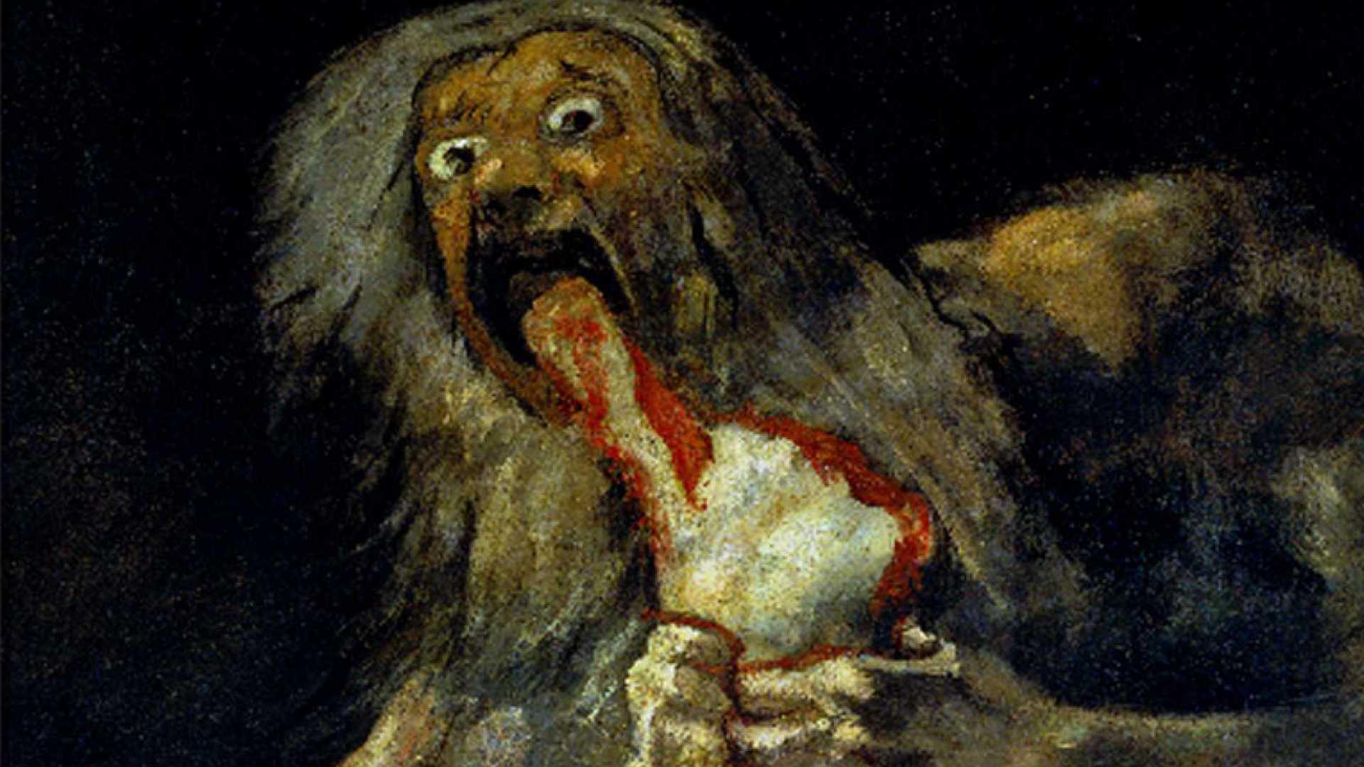 Autor: Goya   Obra: Saturno devorando a su hijo