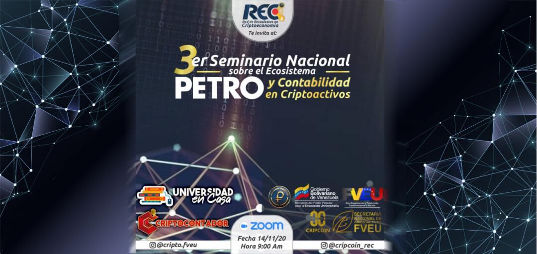 3er Seminario Nacional sobre el Ecosistema Petro y Contabilidad en Criptoactivos