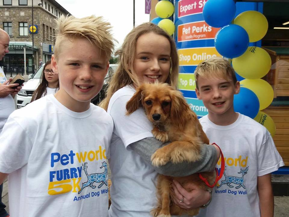 Children taking part in the Furry 5K.