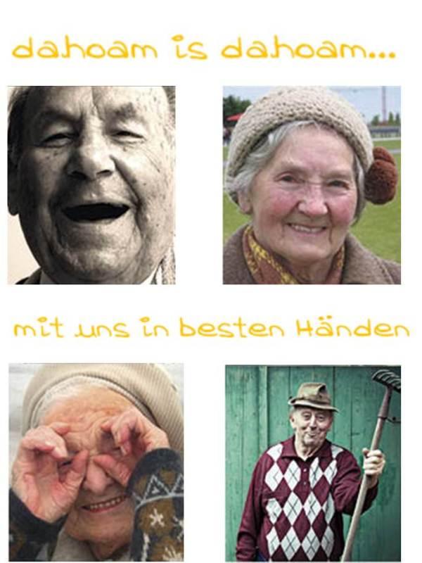 Verschiedene fröhliche Senioren