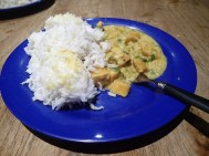 leckeres Kürbis-Kokosnuss-Curry