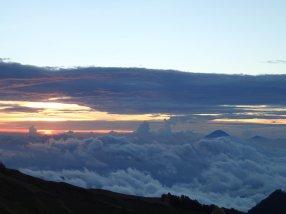 Am Horizont recht ist Mount Agung