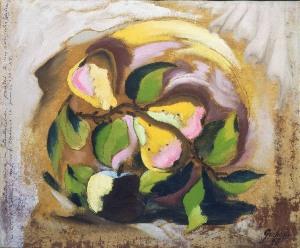 John D. Graham, Pears, 1926. Oil on canvas; 14 1/8 x 17 1/8 in. Gift of Marjorie Phillips, 1985.