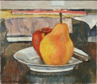 Marjorie Phillips, The Big Pear, 1955. Oil on canvas, 12 1/8 x 14 in. Acquired 1955 (?)
