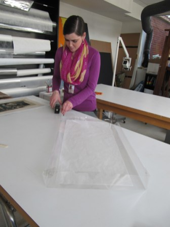 5. DT Preparation of mylar tray for enzyme treatment.