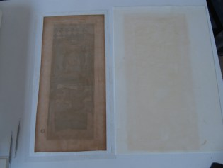 8. DT Blotter from washing showing removed discoloration.