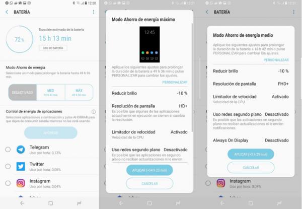 Batería del Samsung Galaxy S8