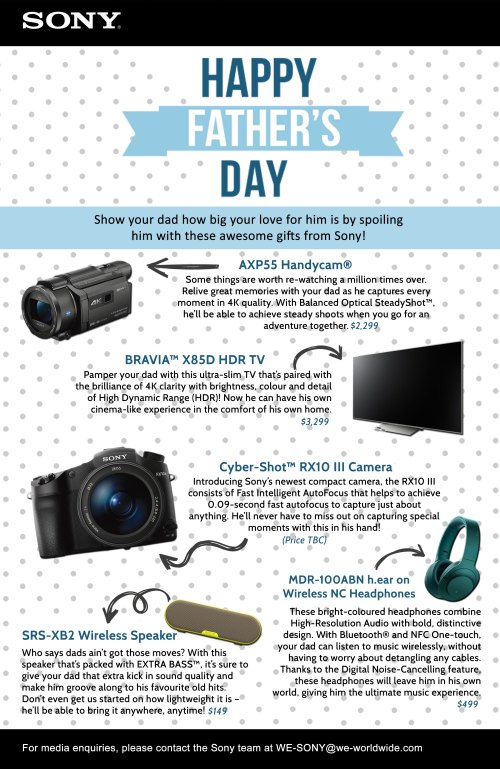 Sony Electronics Father's Day Gift Guide (High Res)