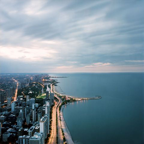 "Photo by Lindsay Blair Brown for an inmate who requested ""to see the downtown Chicago or the lake of Chicago it will bring me happiness to see a real nice picture of the downtown."""