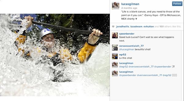 Lucas Gilman's Instagram