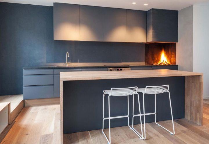 Cucine Moderne Con Camino.Cucine Moderne Con Camino Pavimenti In Travertino Per