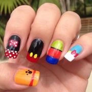 disney inspired nail art 3 world