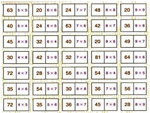 Giochiamo a domino con le tabelline  MAMMA E CASALINGA