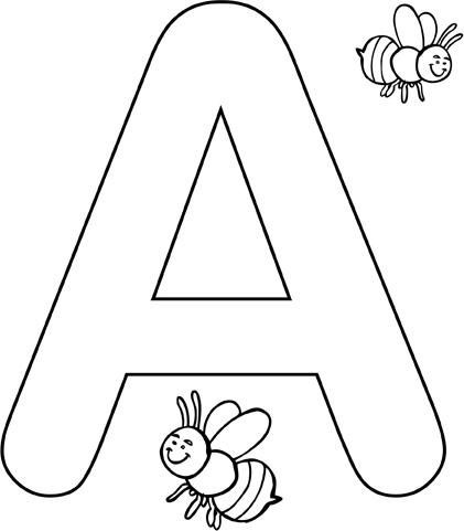 Didattica per bambini : alfabeto da colorare