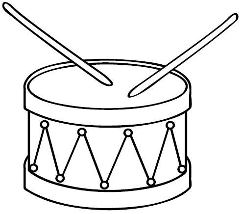 Disegni da colorare : il tamburo