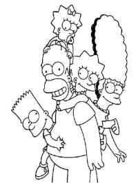 10 Disegni da colorare dei Simpson | MAMMA E CASALINGA