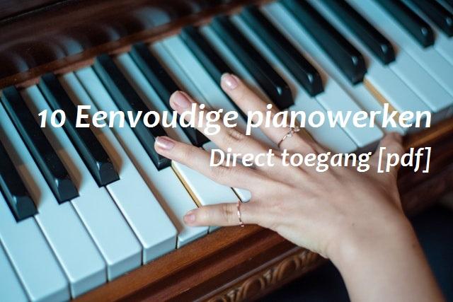 eenvoudige pianowerken