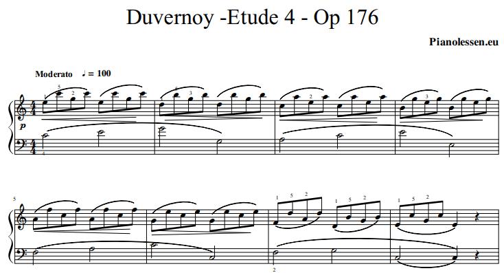 Duvernoy Etude 4 Op 176