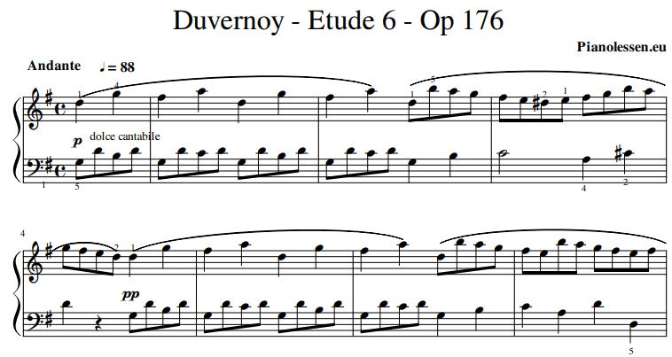 duvernoy-etude-6-voorbeeld