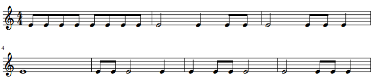 ritme dictee 2 - ritme oefenen