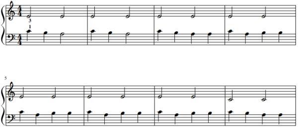 Eenvoudige pianostukken