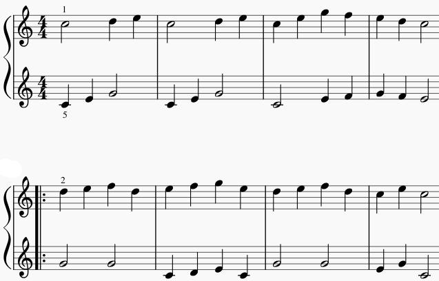 Carl Czerny voorbeeld bladmuziek PDF